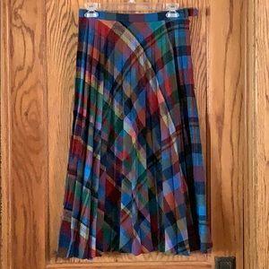 Dresses & Skirts - Vintage, Wool, Multi-Colored, Pleated Skirt